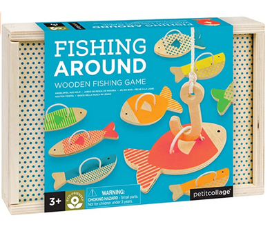 Retro Wooden Fishing Game