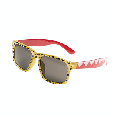 Retro Yellow Cheetah Print Kids Sunglasses