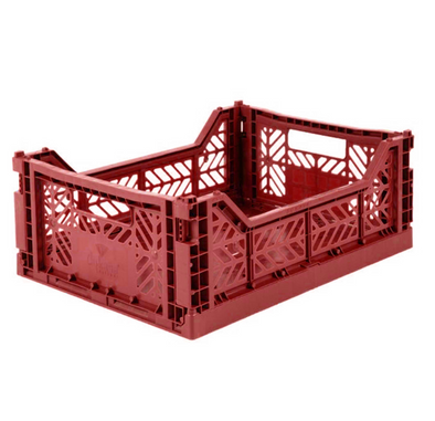 Folding Crate in Tile Red