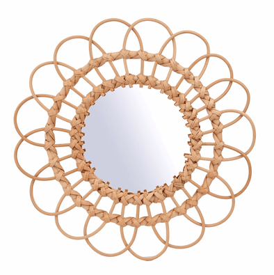 Rattan Mirror - Retro Kids
