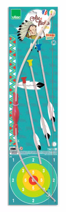 Wooden Bow and Arrow with Target Set - Retro Kids