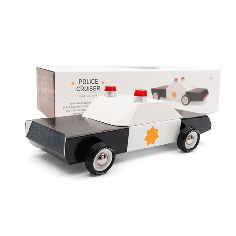 Police Cruiser Wooden Car Toy - Candylab Toys