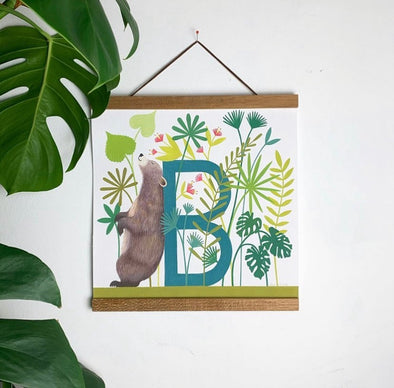 B for Bear Alphabet Print