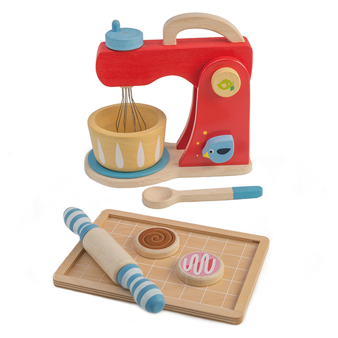 Bakers Mixing Set Wooden Toy - Retro Kids