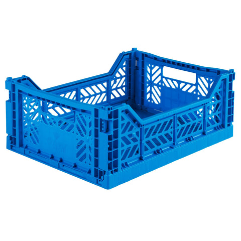 Ay-Kasa Folding Crate in Blue - Lillemor Lifestyle