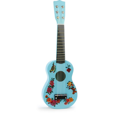 Birds & Flowers Wooden Toy Guitar