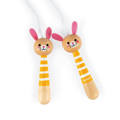 Wooden Bunny Skipping Rope