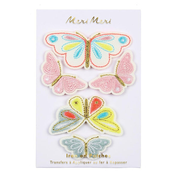 Butterflies Iron on Patches - Retro Kids