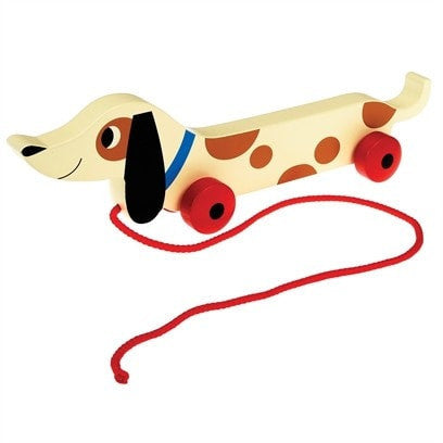 Charlie The Sausage Dog Wooden Pull Toy - Retro Kids
