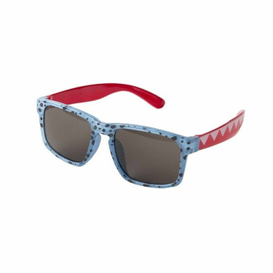 Retro Blue Cheetah Print Kids Sunglasses