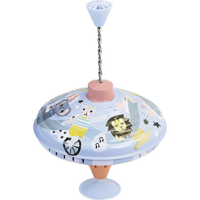Large Tin Circus Spinning Top - Retro Kids