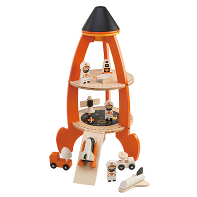 Cosmic Space Rocket Wooden Toy Set