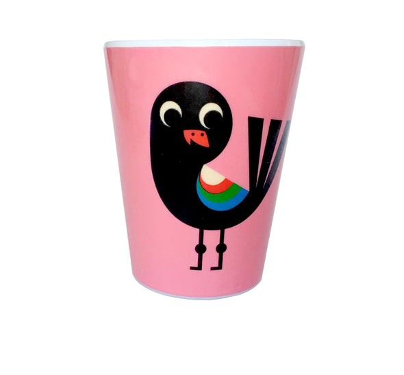 Bird with Pink Tumbler - Retro Kids