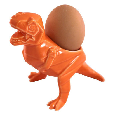Dinosaur T-Rex Orange Egg Cup