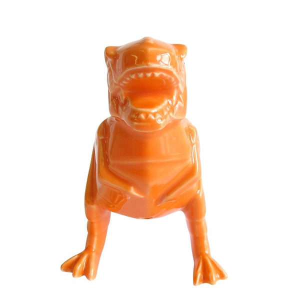 Dinosaur T-Rex Orange Egg Cup - Retro Kids