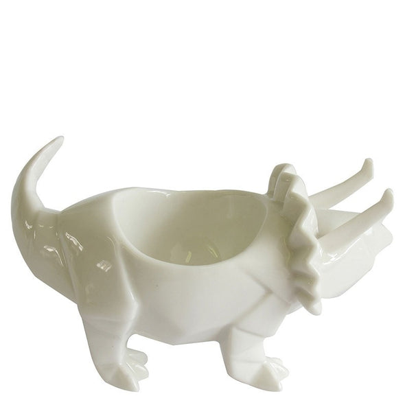 Dinosaur Triceratops White Egg Cup