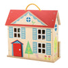 Wooden Dolls House Complete Toy Set - Retro Kids