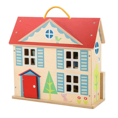 Wooden Dolls House Complete Toy Set