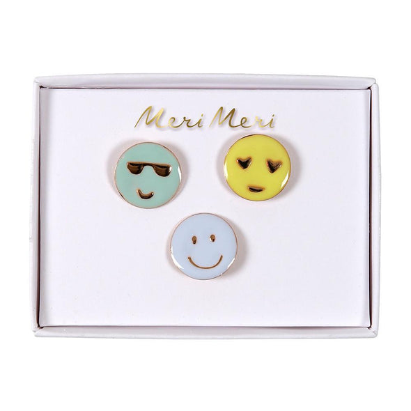 Emoji Enamel Pins - Retro Kids