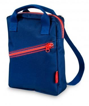 Dark Blue Zipper Backpack - Retro Kids