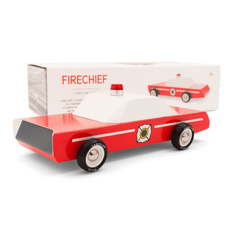 Fire Chief Wooden Car Toy - Candylab Toys