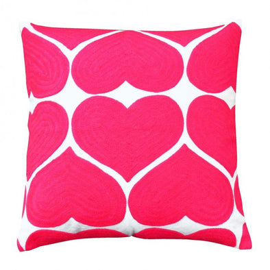 Pink Love Heart Cushion