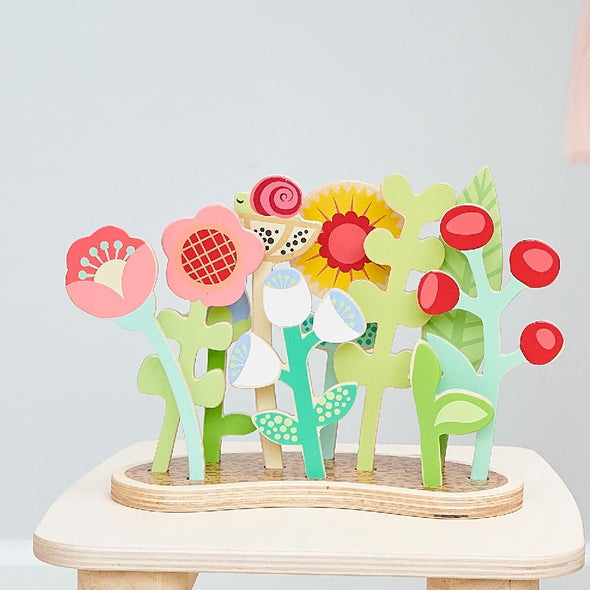 Wooden Flower Bed Toy