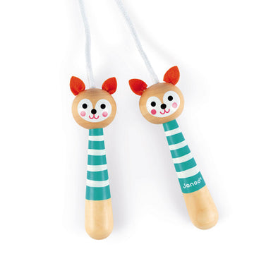Wooden Fox Skipping Rope