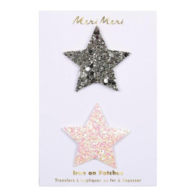 Glitter Star Iron on Patches