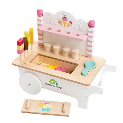Ice Cream Cart Wooden Toy - Retro Kids