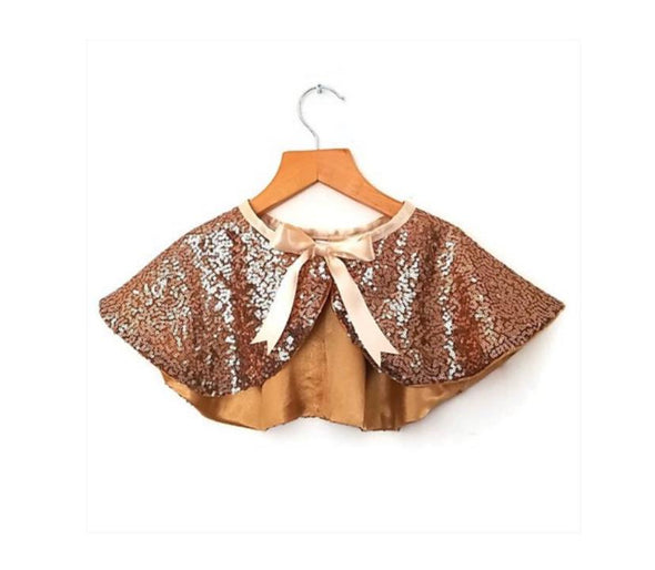 Gold Sequin Dress Up Cape - Retro Kids