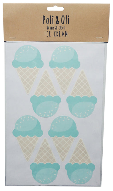 Mint Ice Cream Wall Stickers