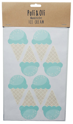 Mint Ice Cream Wall Stickers - Poli & Oli