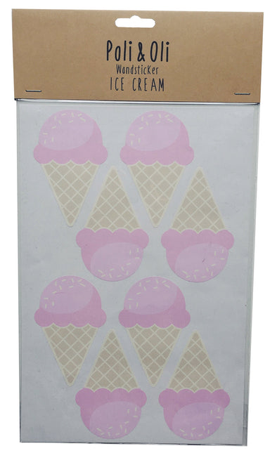 Pink Ice Cream Wall Stickers