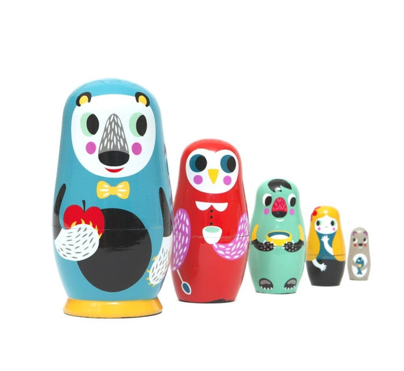 In the Woods Nesting Dolls - Retro Kids