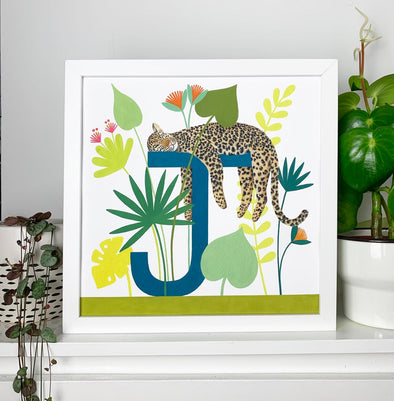J for Jaguar Alphabet Print