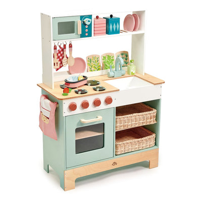 Retro Wooden Toy Kitchen Range