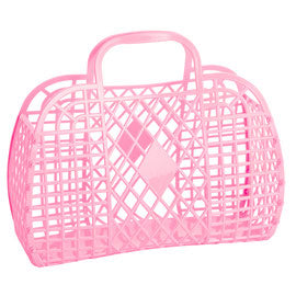 Large Jelly Bag Bubblegum Pink
