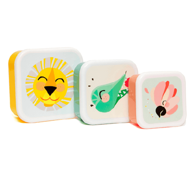 Shiny Lion & Friends Lunchbox set of 3 - Retro Kids