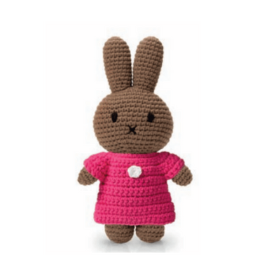 Melanie Knitted Toy Doll in Pink Dress