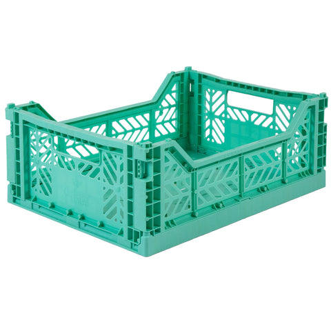 Ay-Kasa Folding Crate in Mint - Lillemor Lifestyle