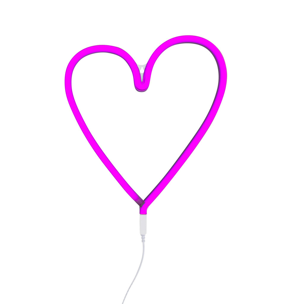 Neon style Pink Heart Light - Retro Kids
