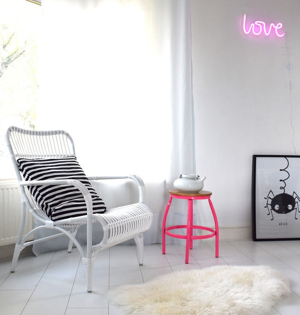 NEON style Pink LOVE sign Light - A Little Lovely Company