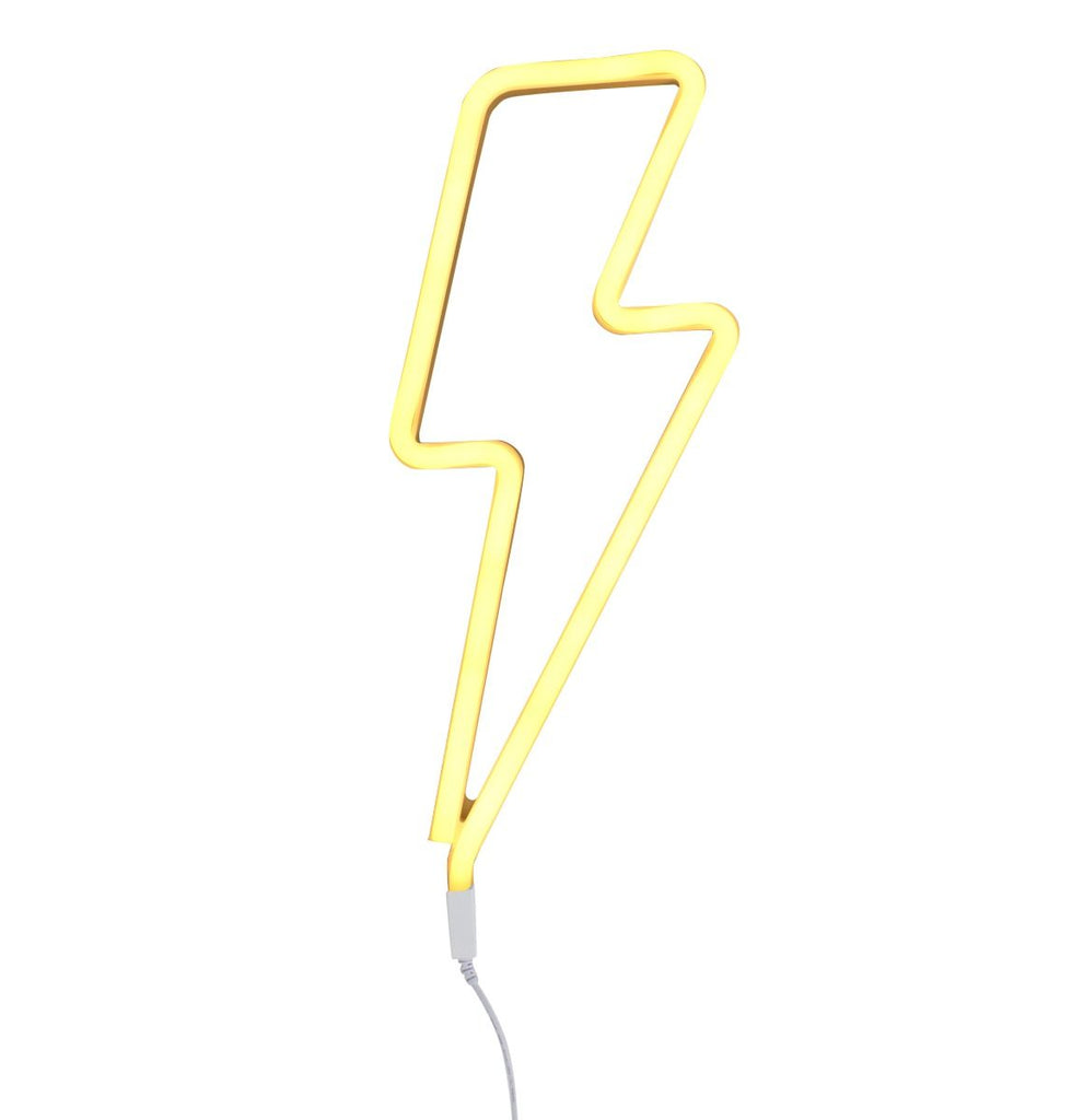 Neon Yellow Lightning Bolt Light - Retro Kids