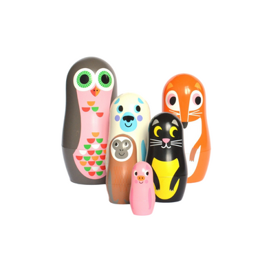 Mini Animal Nesting Dolls - Design 2