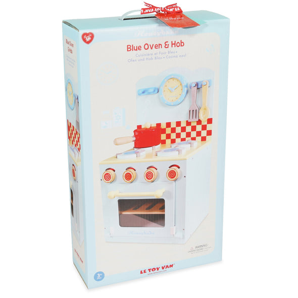 Blue Oven & Hob Kitchen Play Set - Retro Kids