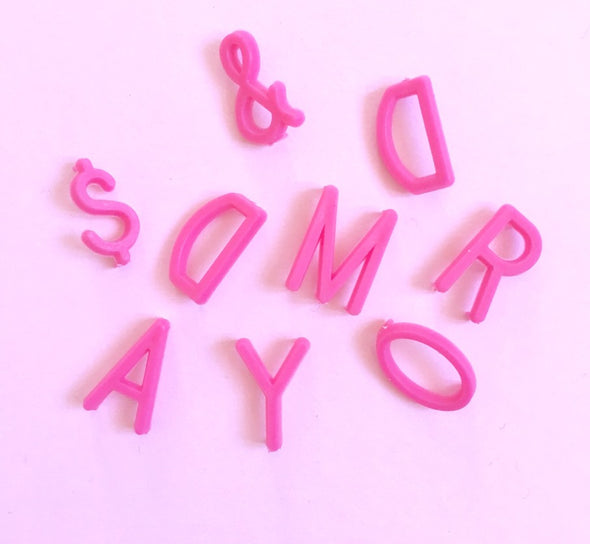 Pink 1.9cm Letter Set for Letterboard - Retro Kids