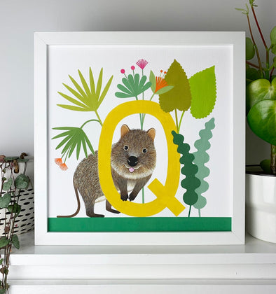 Q for Quokka Alphabet Print
