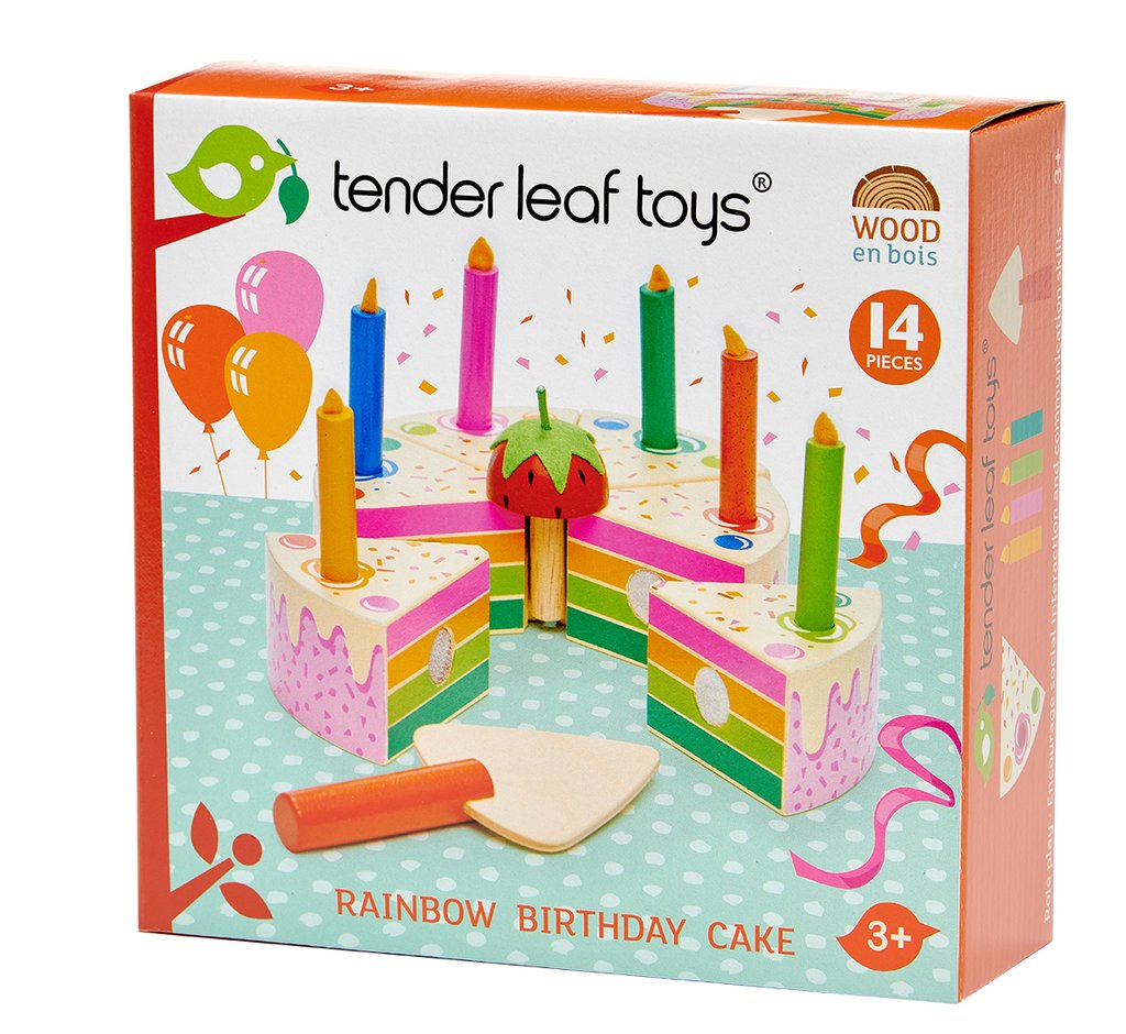 Rainbow Birthday Cake Wooden Toy - Retro Kids