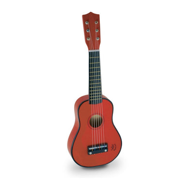 Red Wooden Toy Guitar